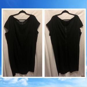 Black Comfy Stretchy Maxi Dress 26W by ICE
